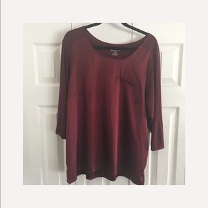 Lane Bryant Holiday 3/4 sleeve pullover top